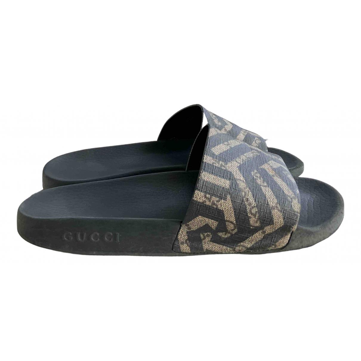 Gucci - Sandales   pour homme en caoutchouc - noir