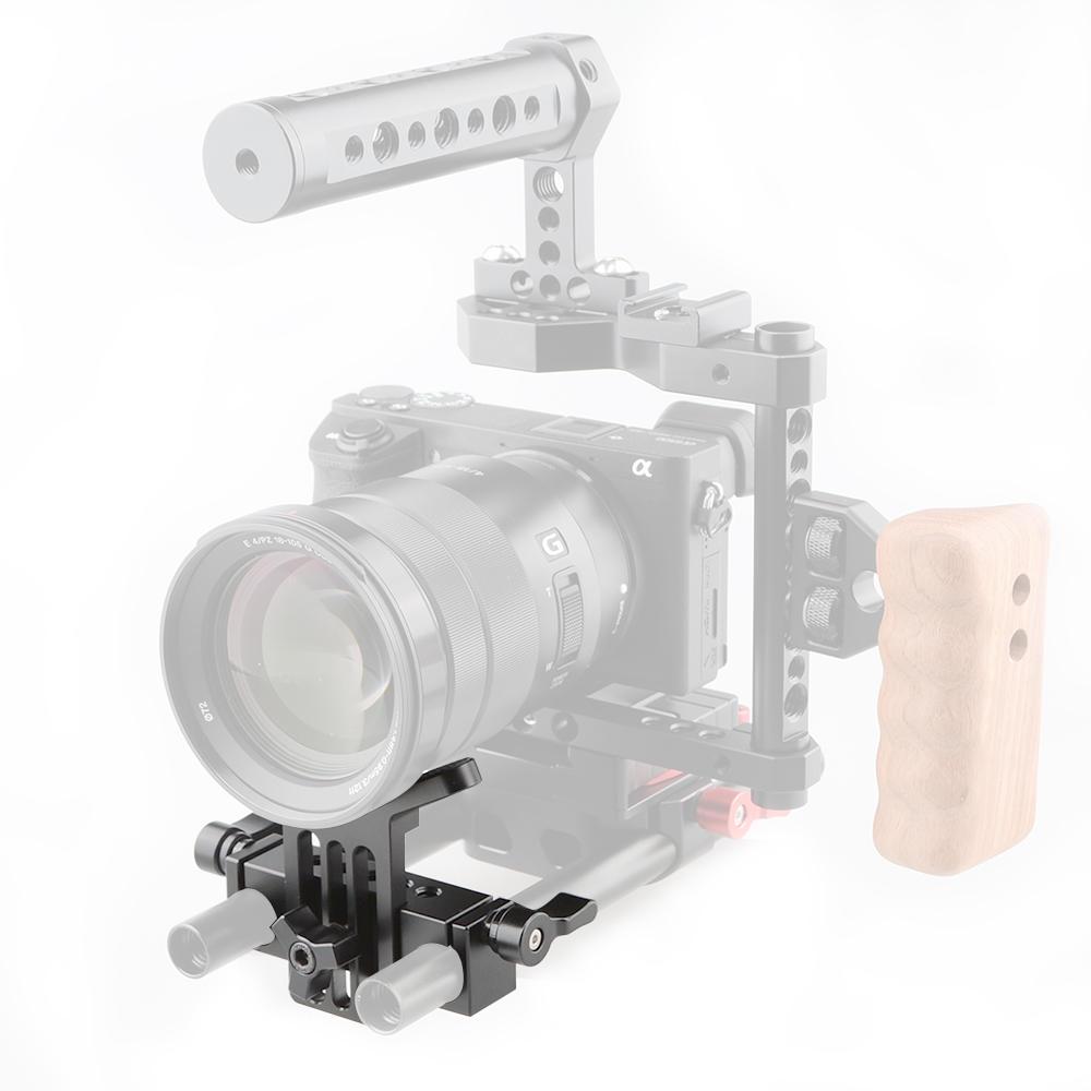KEMO C1108 Aluminum Alloy Adjustable Height Stabilizer Holder for Camera Lens