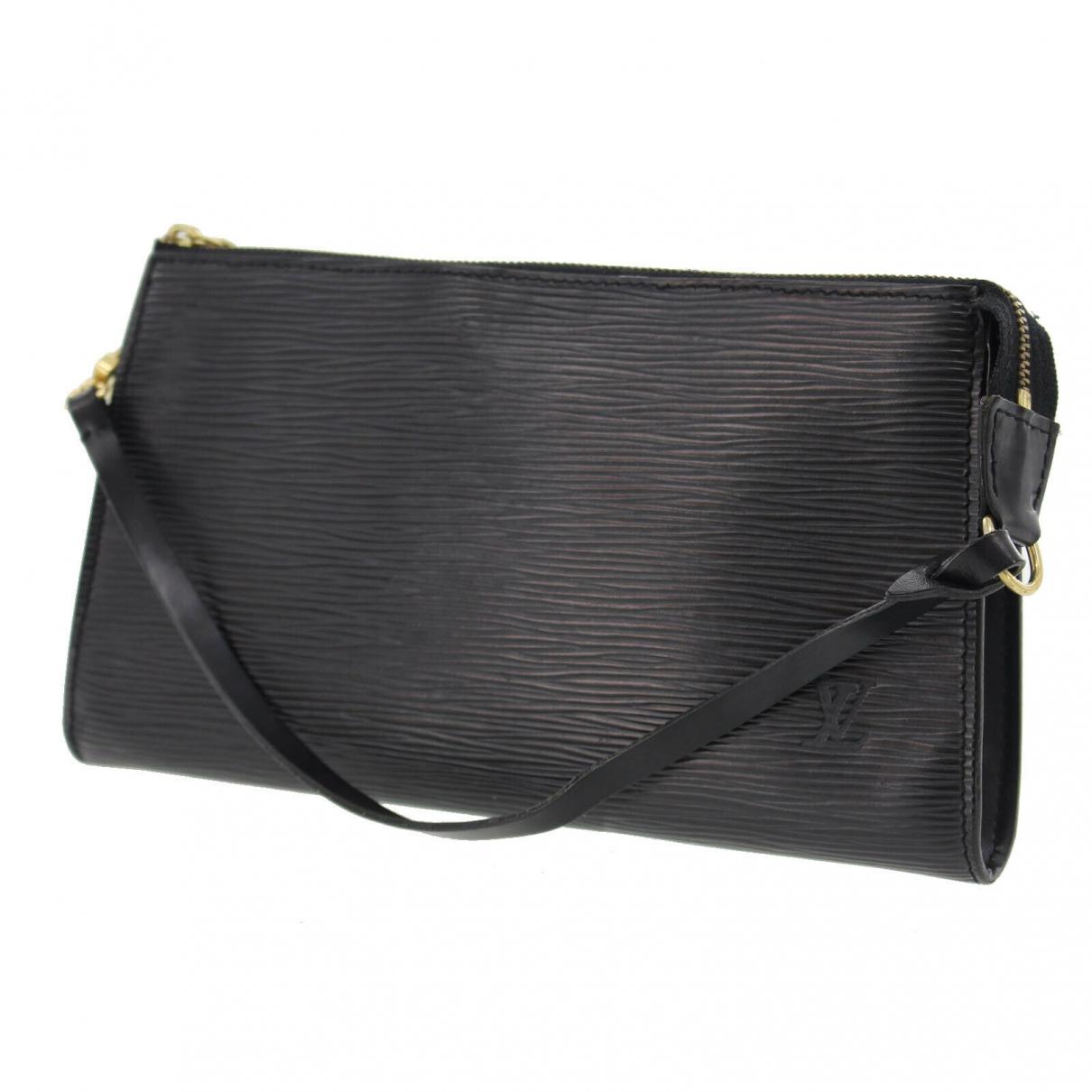 Louis Vuitton Pochette Accessoire Black Leather Clutch bag for Women \N