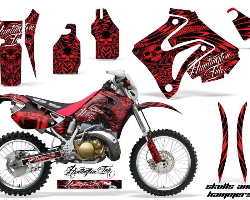 AMR Racing Graphics MX-NP-HON-CRM250AR-96-99-HISH R Kit Decal Sticker Wrap + # Plates For Honda CRM250AR 1996-1999áHISH RED