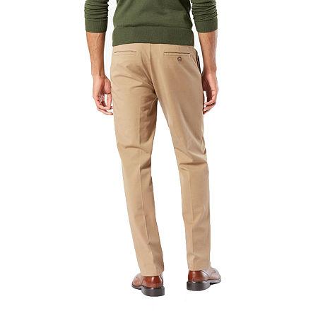 Dockers Men's Slim Fit Workday Khaki Smart 360 Flex Pants D1, 32 30, Beige