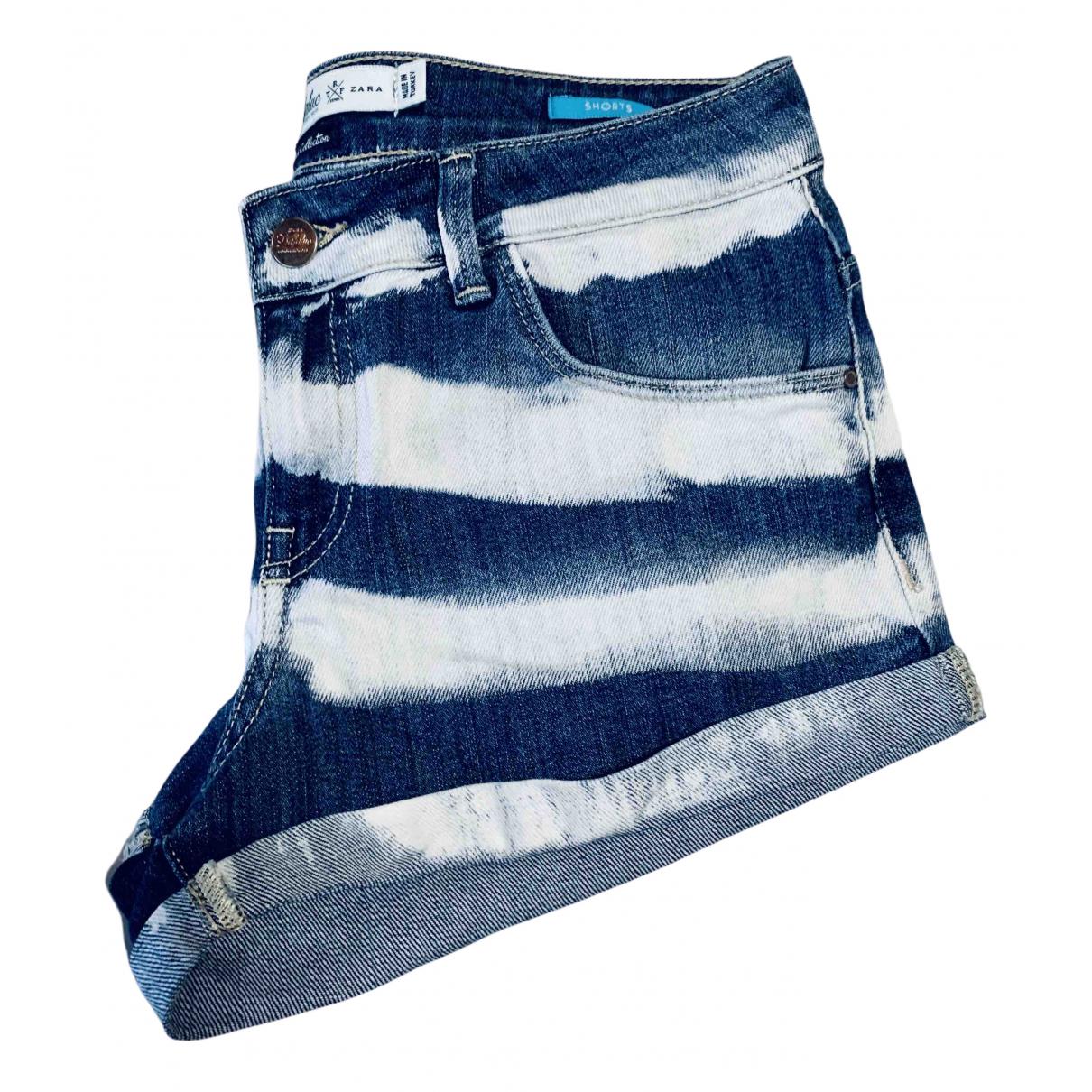 Zara N Blue Denim - Jeans Shorts for Women 34 FR