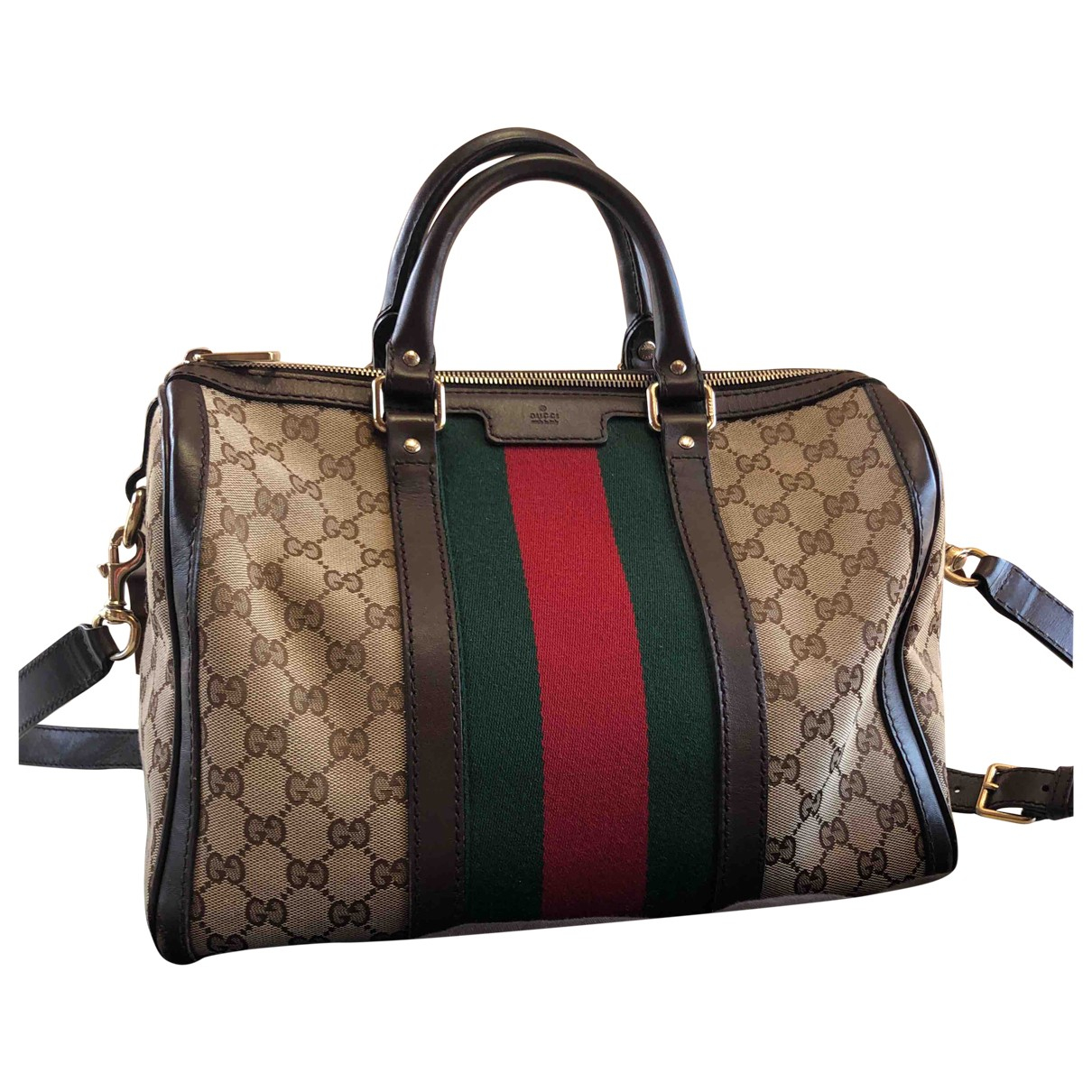 Gucci Boston Brown Cloth handbag for Women \N