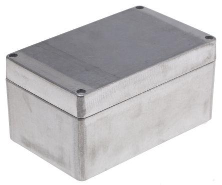 RS PRO Unpainted Die Cast Aluminium Enclosure, IP66, 160 x 100 x 81mm