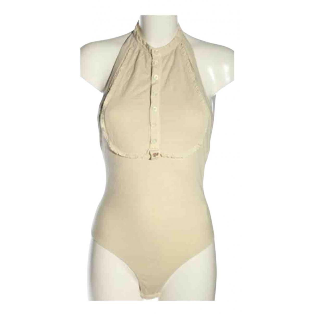 Dsquared2 - Top   pour femme en coton - beige