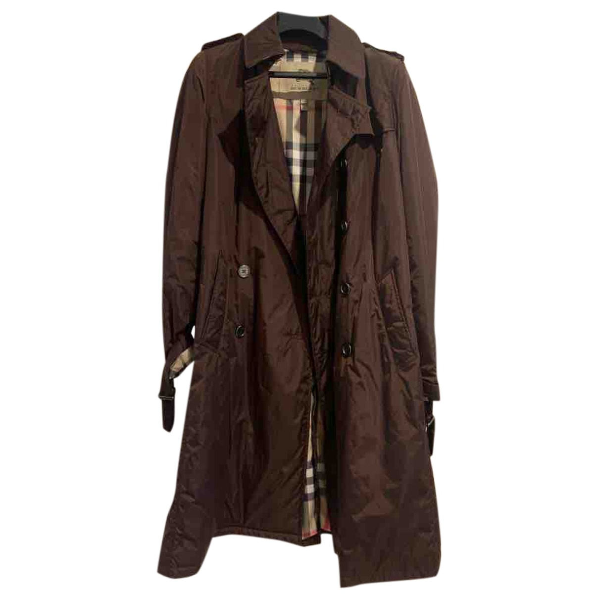 Burberry \N Trench in  Bordeauxrot Polyester