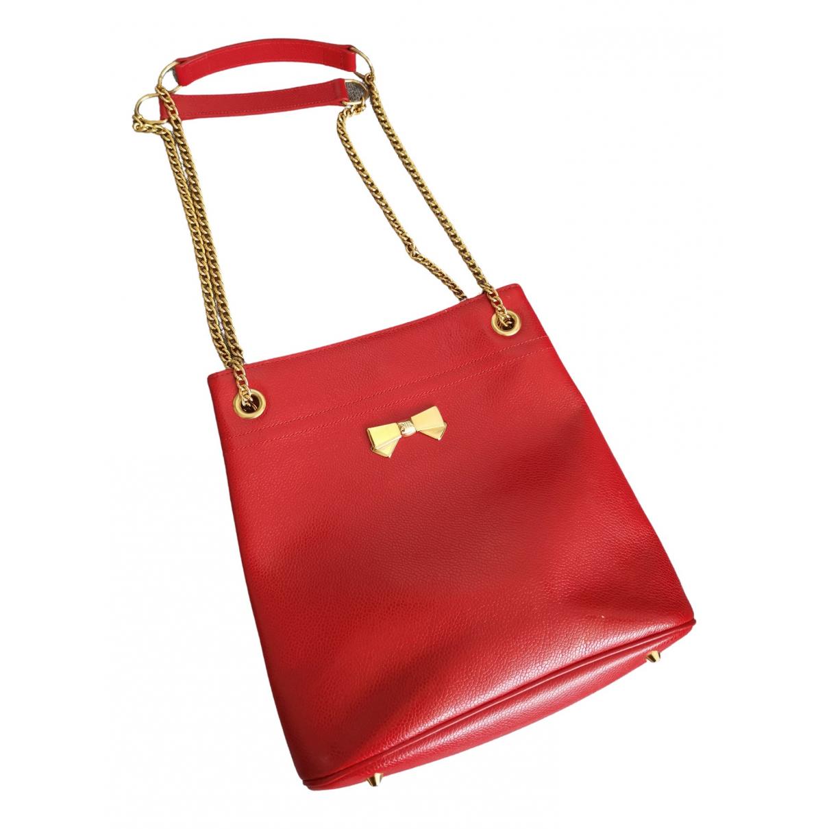 Nina Ricci - Sac a main   pour femme en cuir - rouge