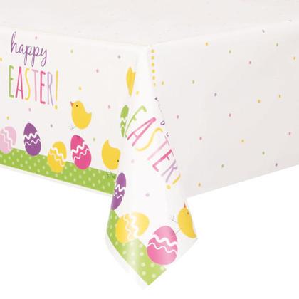 Couverture de table de Pâques mignon en plastique rectangulaire 54