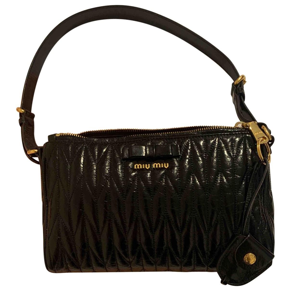 Miu Miu Matelassé Black Patent leather handbag for Women N