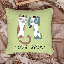 Cartoon Graphic Cushion Cover Without Filler