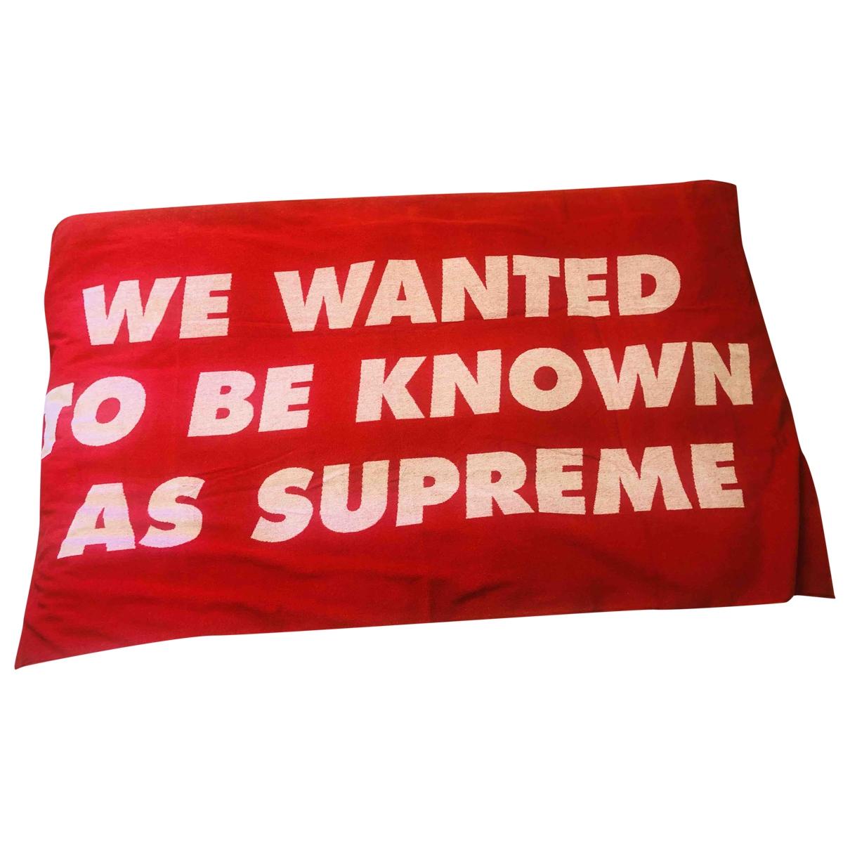 Supreme - Linge de maison   pour lifestyle en coton - rouge