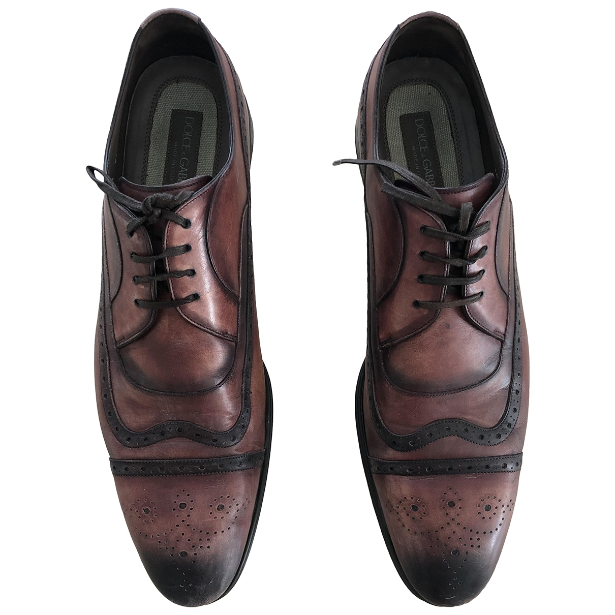 Dolce & Gabbana \N Brown Leather Lace ups for Men 10 UK