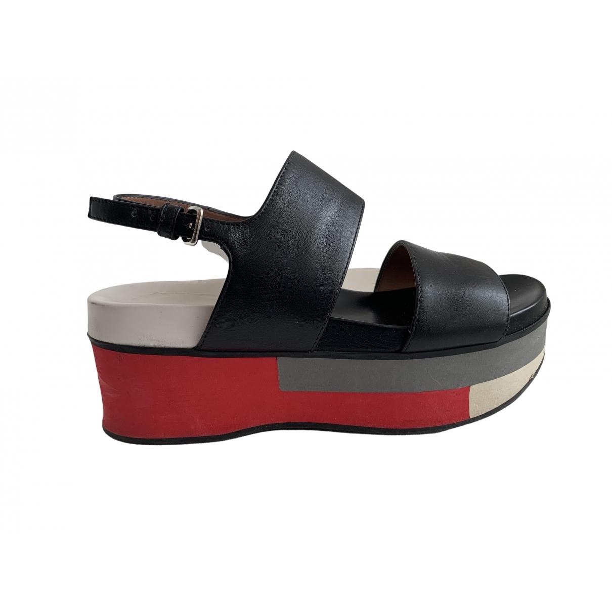 Marni \N Sandalen in  Schwarz Leder