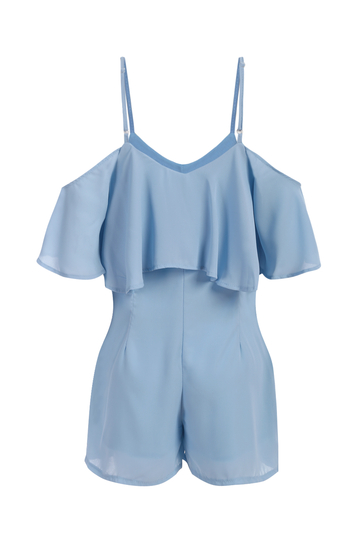 Yoins High Waist V-neck Cold Shoulder Playsuit