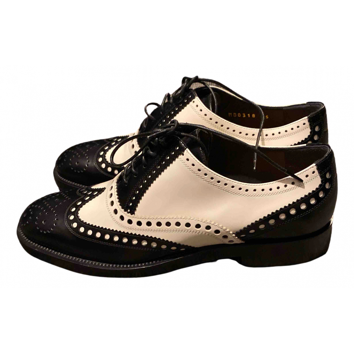 Dior N Black Leather Lace ups for Women 35 IT