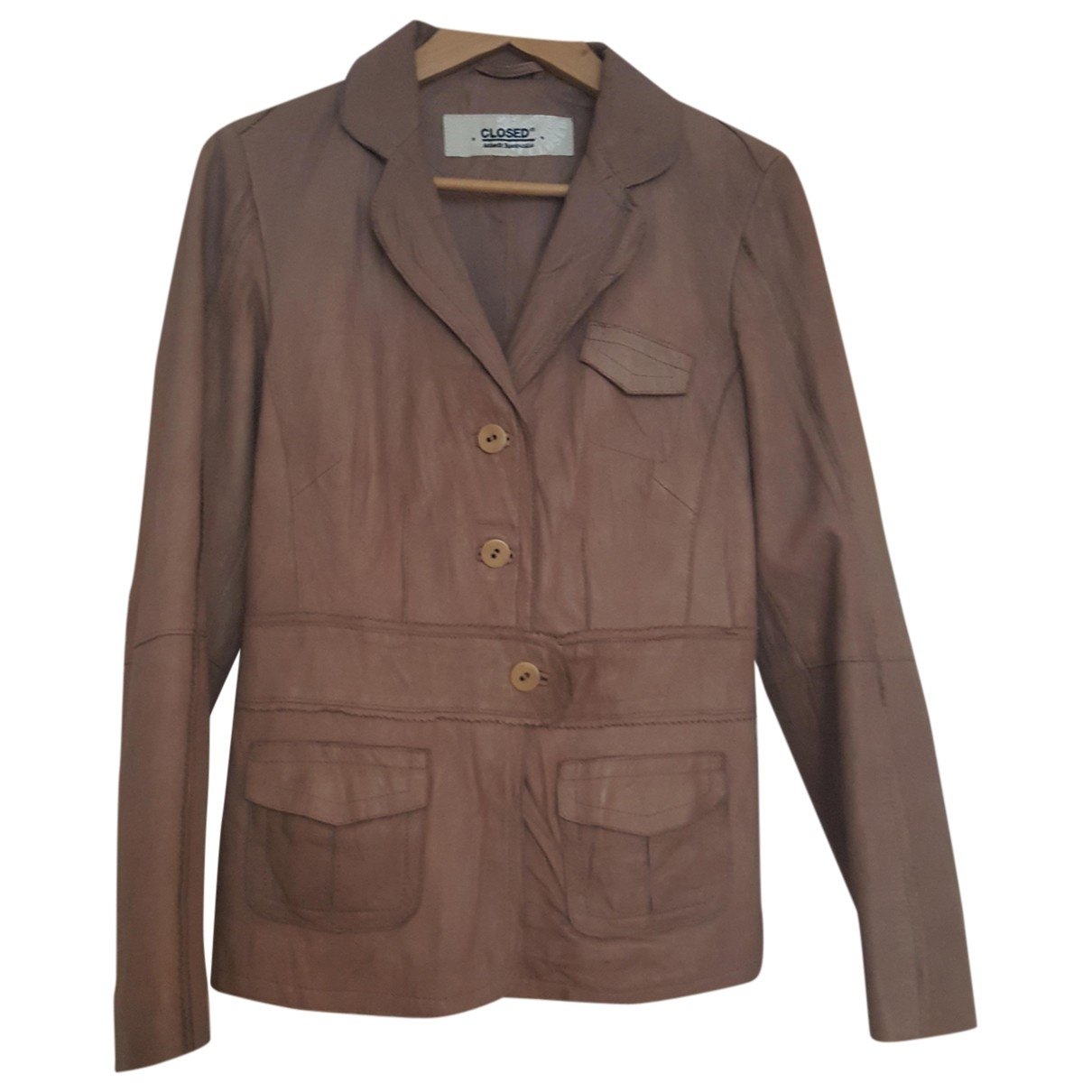 Closed \N Pink Leather Leather jacket for Women M International