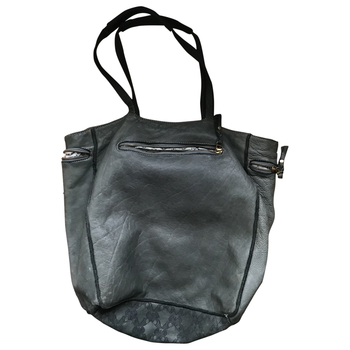 Zadig & Voltaire \N Khaki Leather handbag for Women \N
