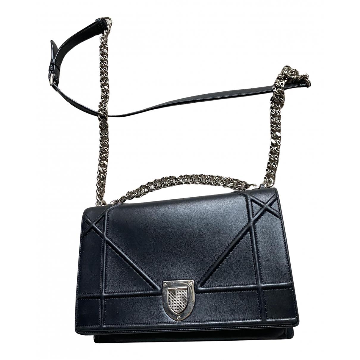 Dior Diorama Handtasche in  Schwarz Leder