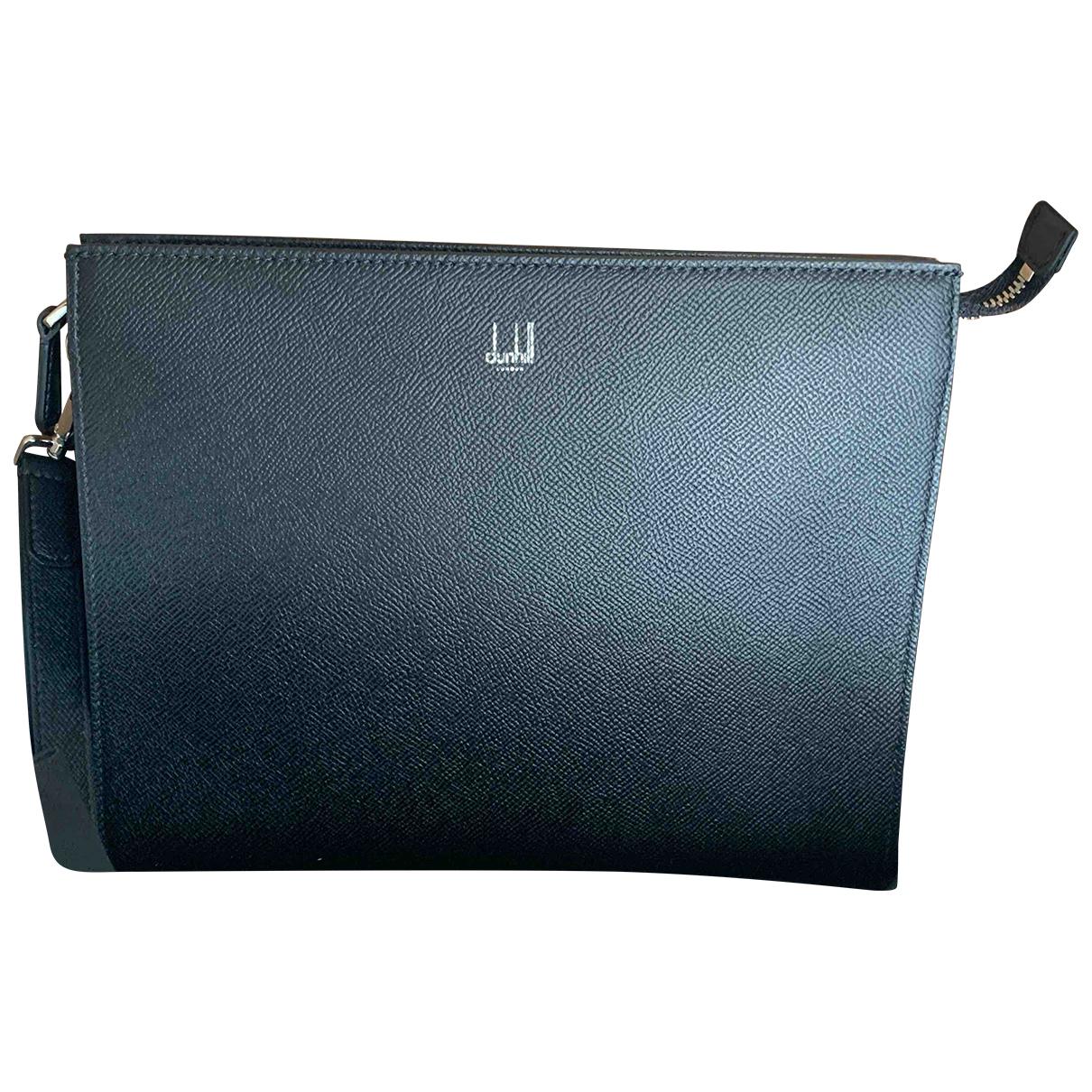 Alfred Dunhill N Black Leather bag for Men N