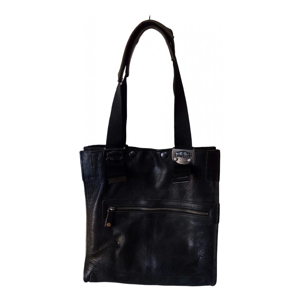 Diesel \N Black Leather handbag for Women \N