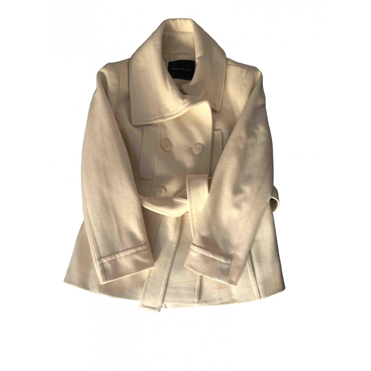 Zara - Manteau   pour femme en laine - beige