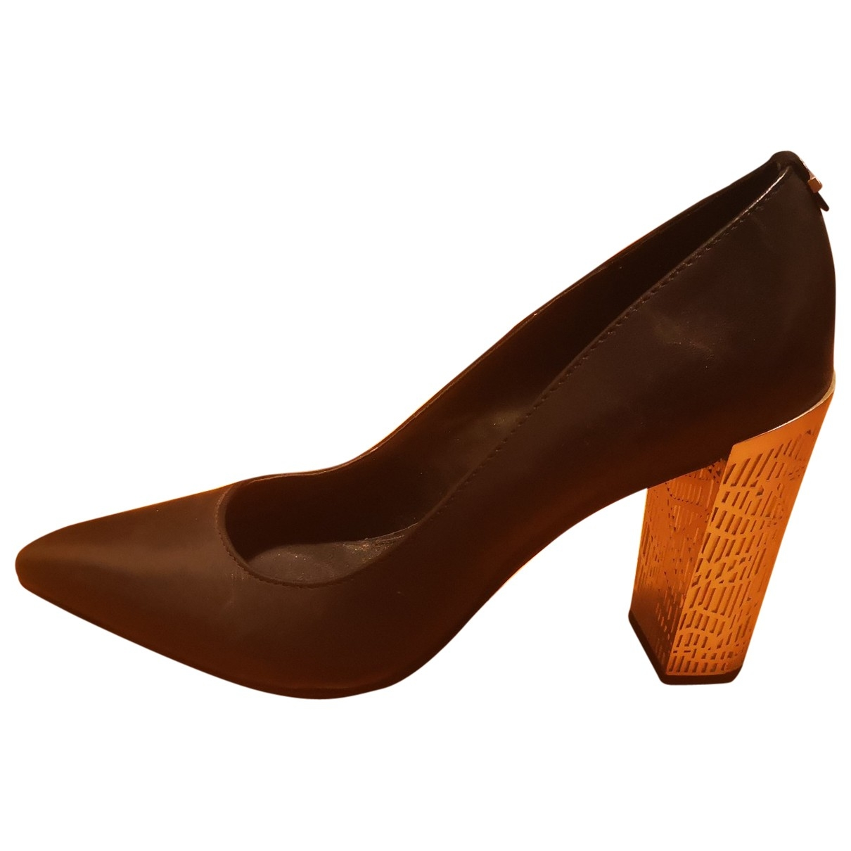 Calvin Klein \N Black Leather Heels for Women 39 EU
