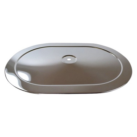 Racing Power Company R2220T Oval Stamped Steel Chrome Air Cleaner Top