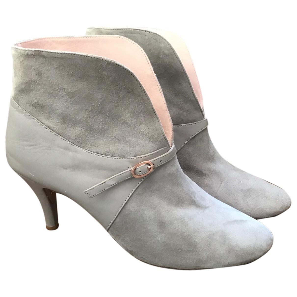 Repetto - Boots   pour femme en cuir - gris