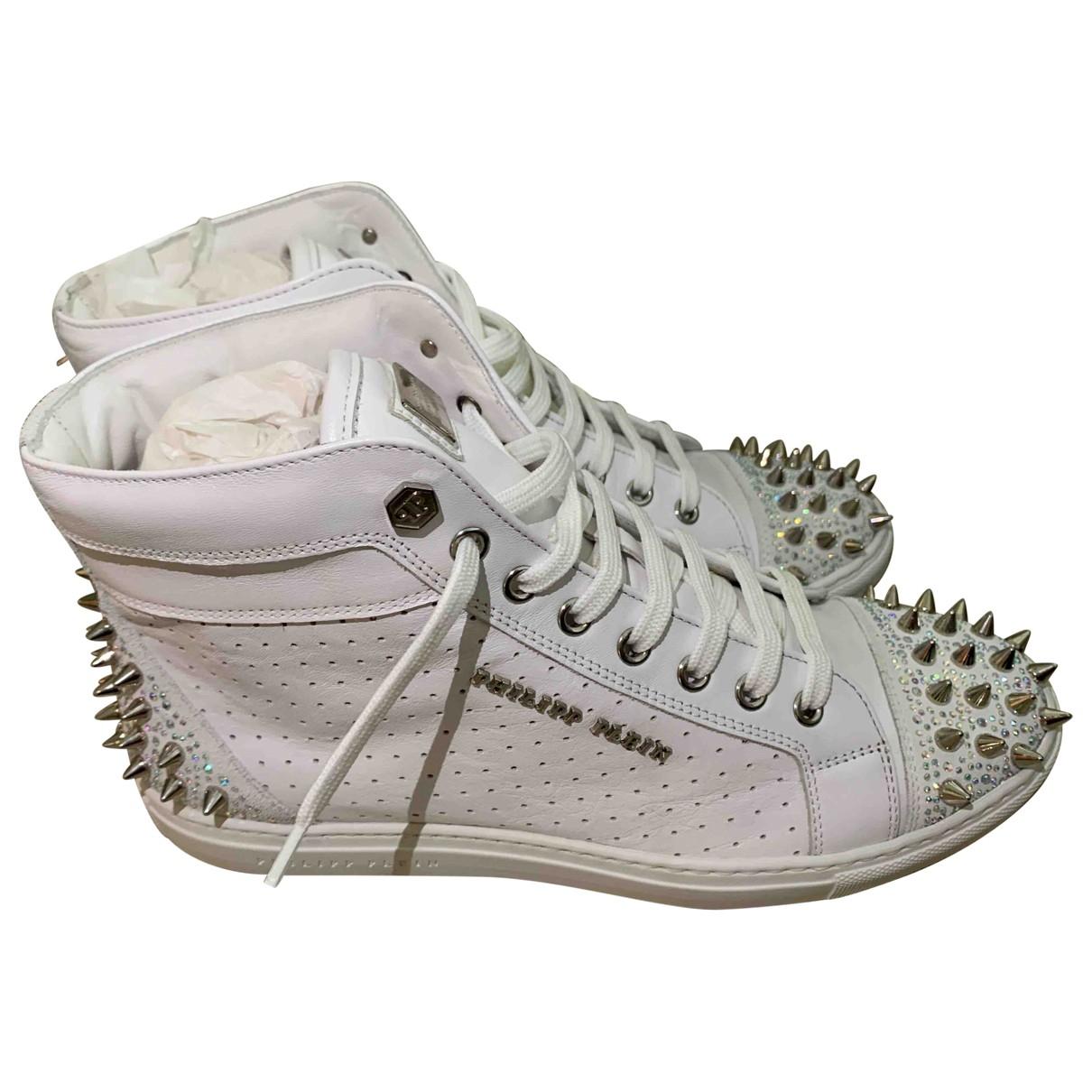 Philipp Plein - Baskets   pour femme en cuir - blanc