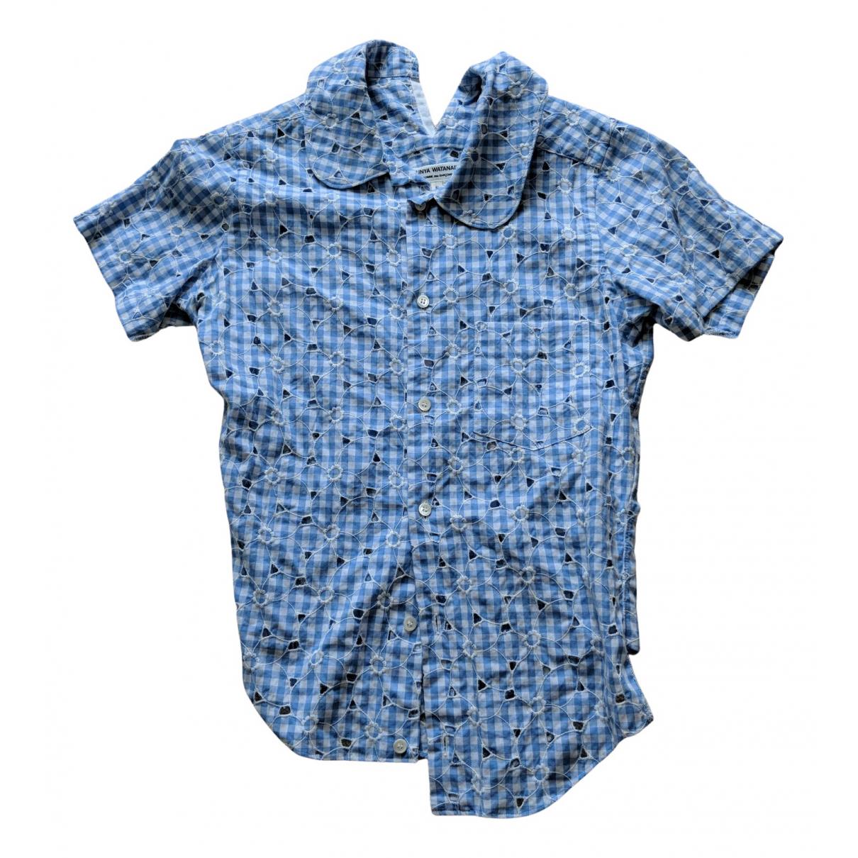 Junya Watanabe - Top   pour femme en coton - bleu