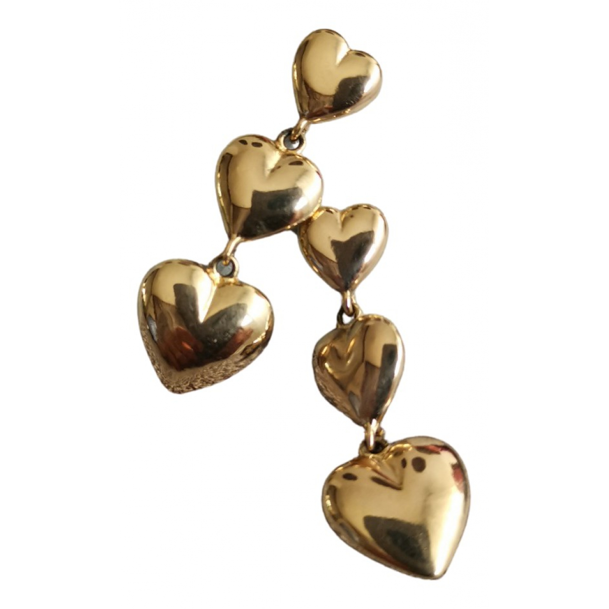 - Boucles d'oreilles Motifs Coeurs pour femme en plaque or - dore