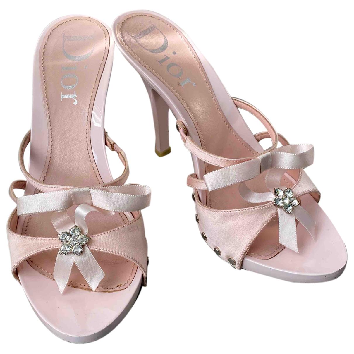 Dior - Sandales   pour femme en toile - rose
