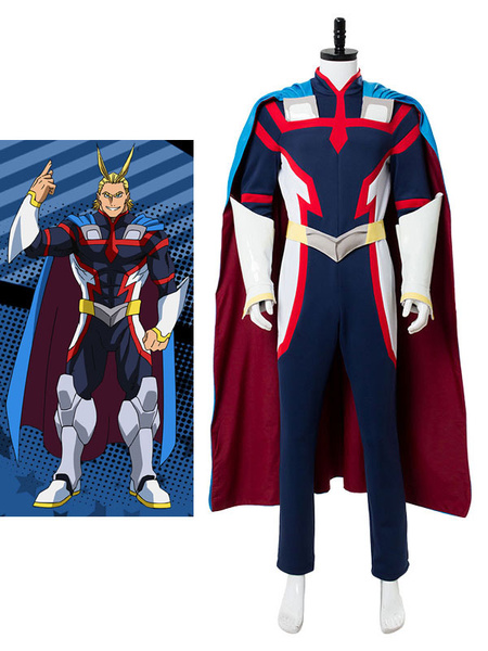 Milanoo Boku No Hero Academia BNHA All Might Halloween Cosplay Costume Zentai Suit Deluxe Edition