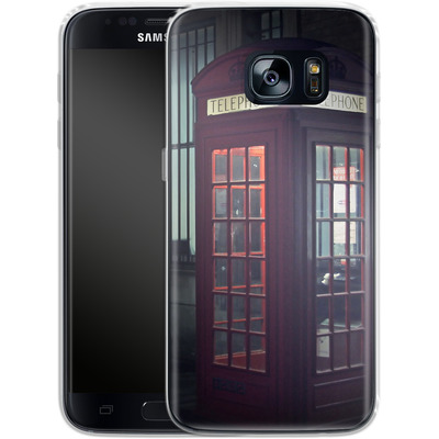 Samsung Galaxy S7 Silikon Handyhuelle - London Calling 2 von Ronya Galka