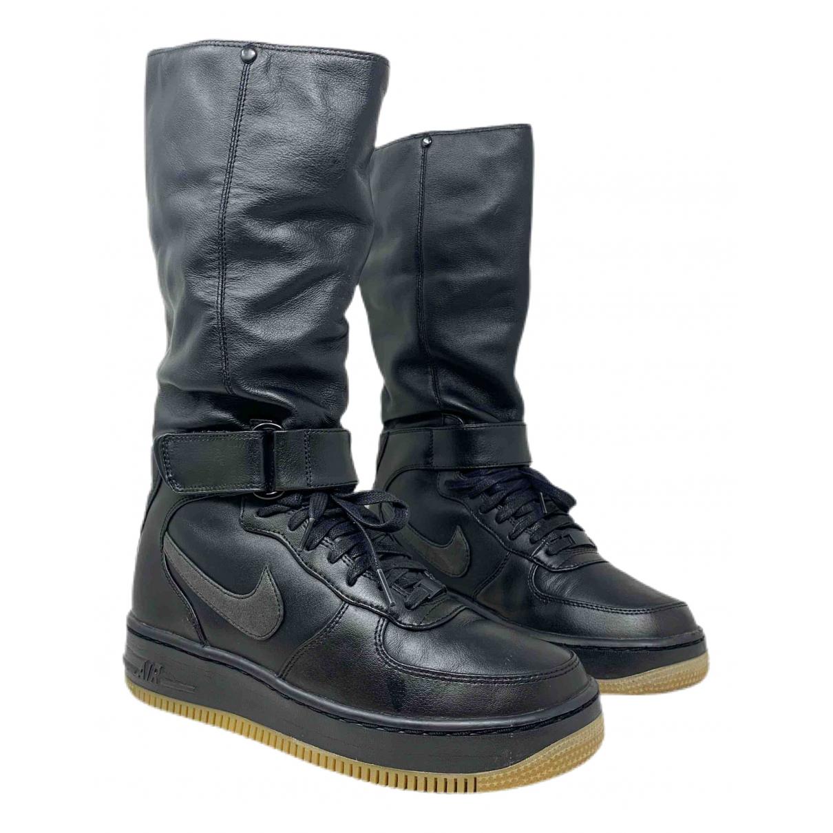 Nike \N Black Leather Trainers for Women 40 EU