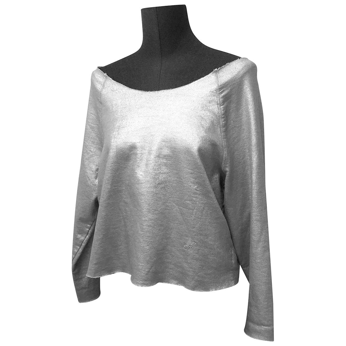 Acne Studios - Pull   pour femme en coton - argente