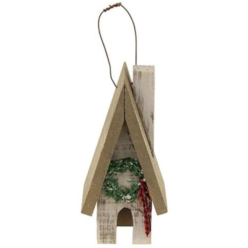 Primitive Town House w/ Wreath - Multi (Artificial Wreath)