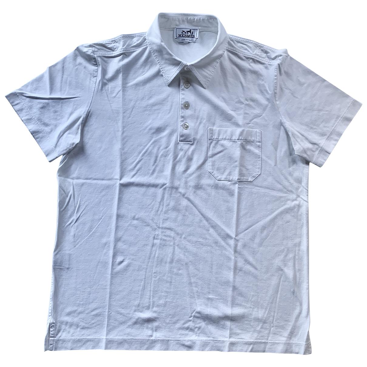 Hermès \N White Cotton Polo shirts for Men M International