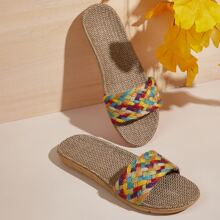 Zapatillas trenzadas vistosas
