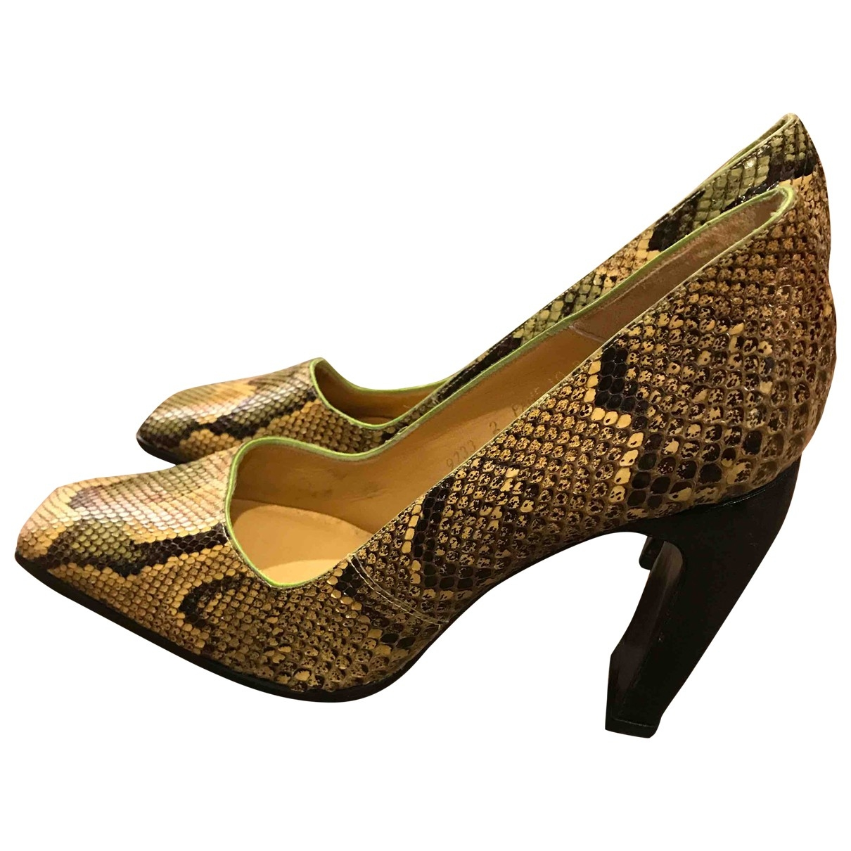 Non Signé / Unsigned \N Multicolour Python Heels for Women 10 US