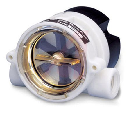 Gems Sensors RotorFlow Electronic Flow Sensor, 1.5 gal/min ? 20 gal/min, RFO Series