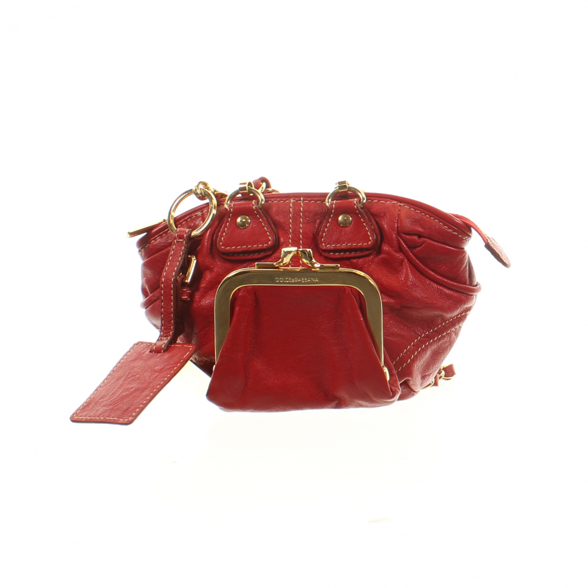 Dolce & Gabbana \N Clutch in  Rot Leder