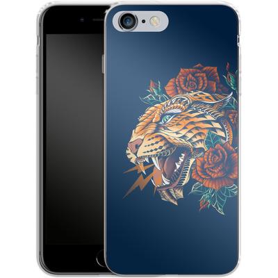 Apple iPhone 6s Plus Silikon Handyhuelle - Ornate Leopard von BIOWORKZ