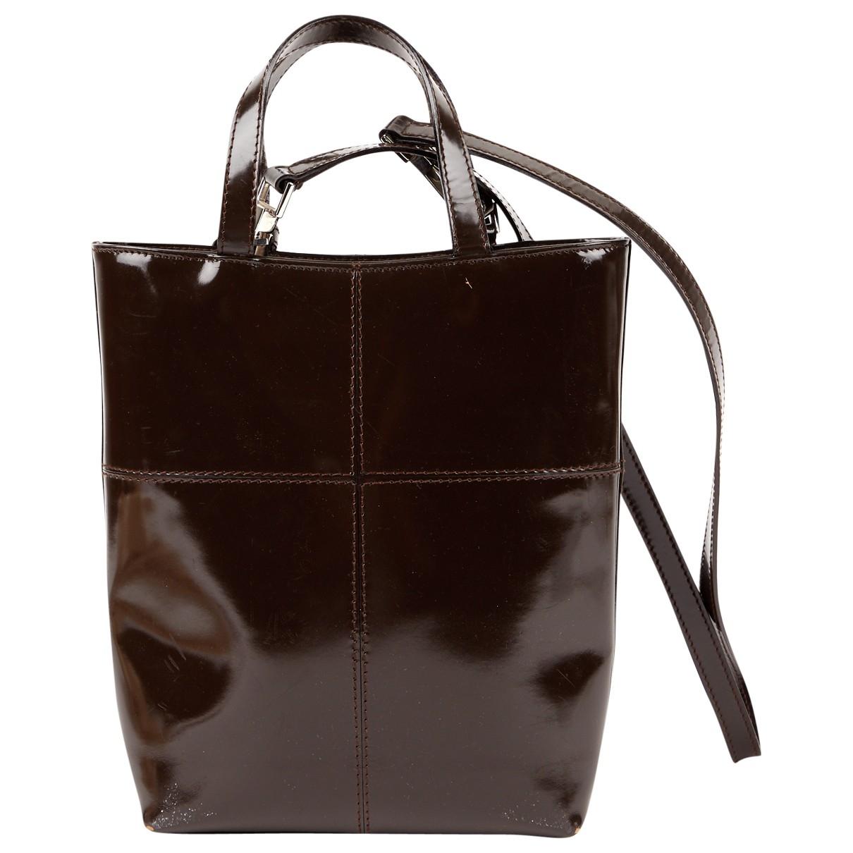 Gucci \N Brown Patent leather handbag for Women \N