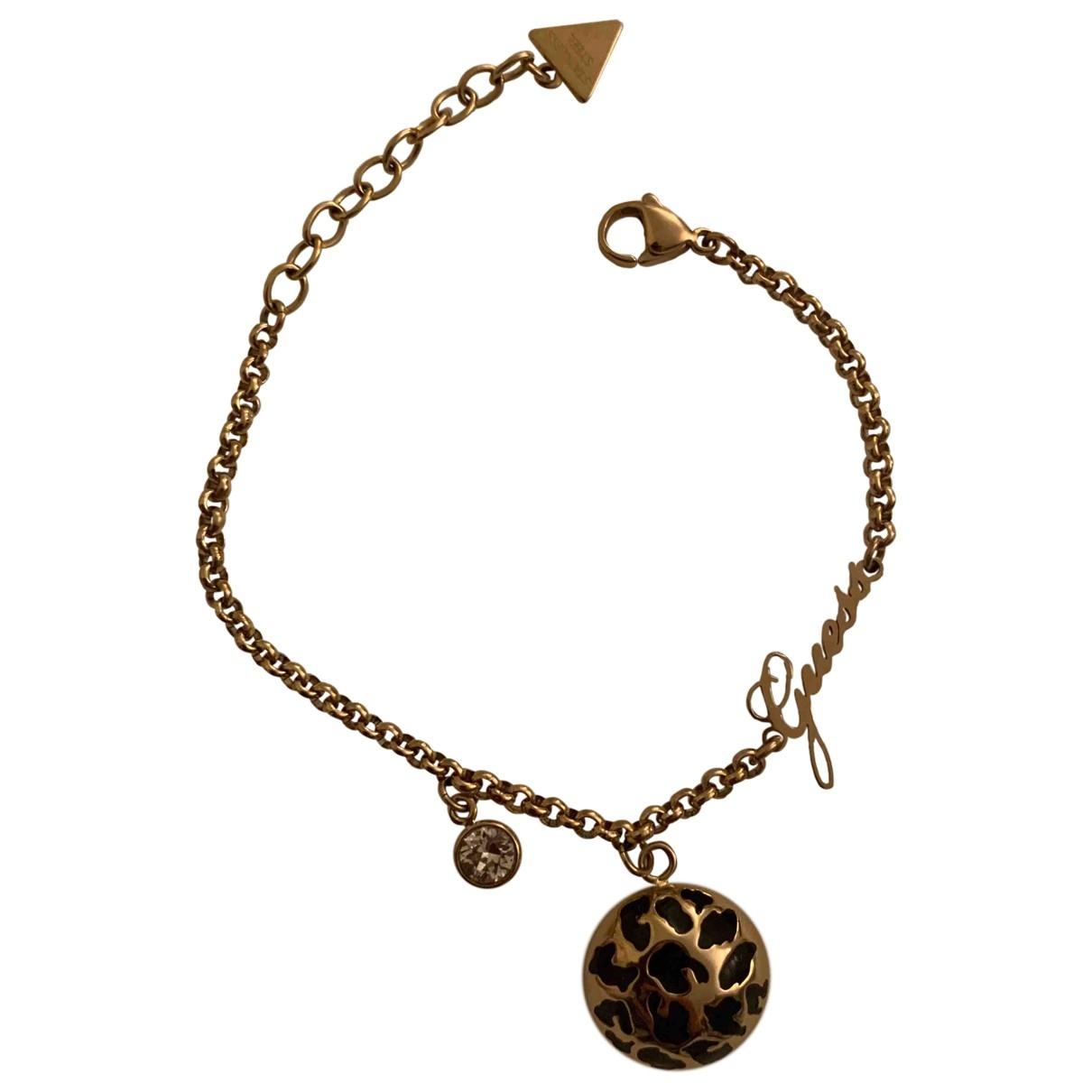 Guess - Bracelet   pour femme en plaque or - dore