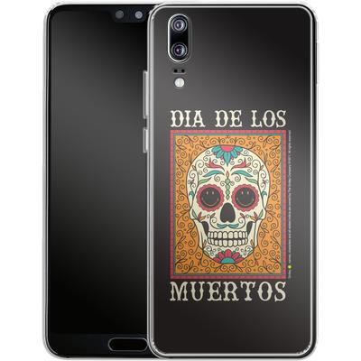 Huawei P20 Silikon Handyhuelle - Dia De Los Muertos von Smiley®