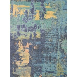 Nourison Hand-tufted Abstract Shag ABS03 Area Rug (5' x 7' - Multi)