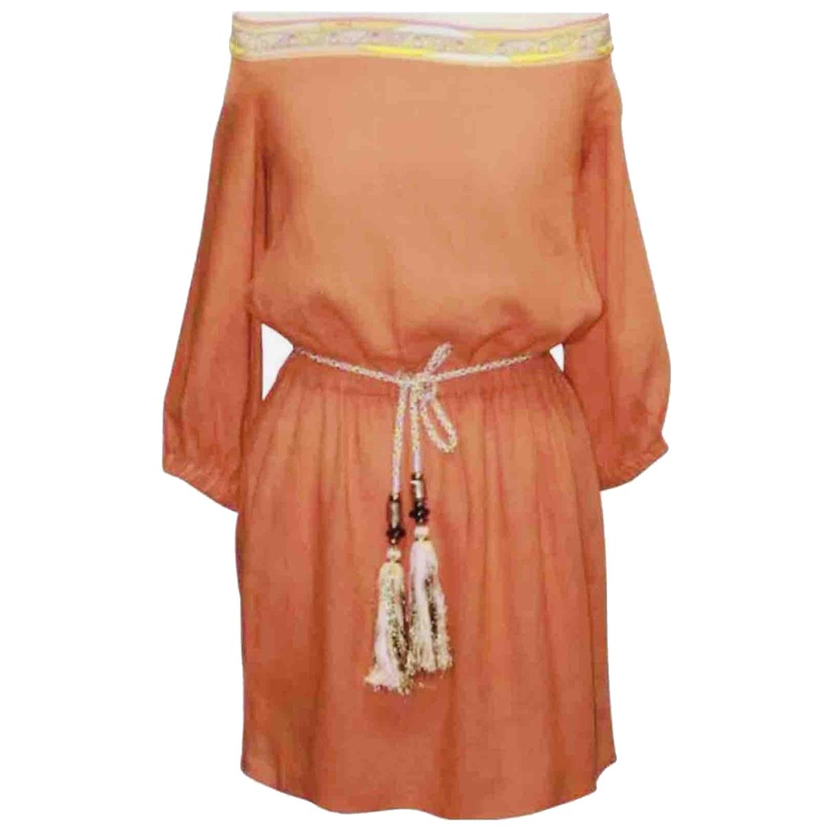 Emilio Pucci \N Kleid in  Orange Baumwolle