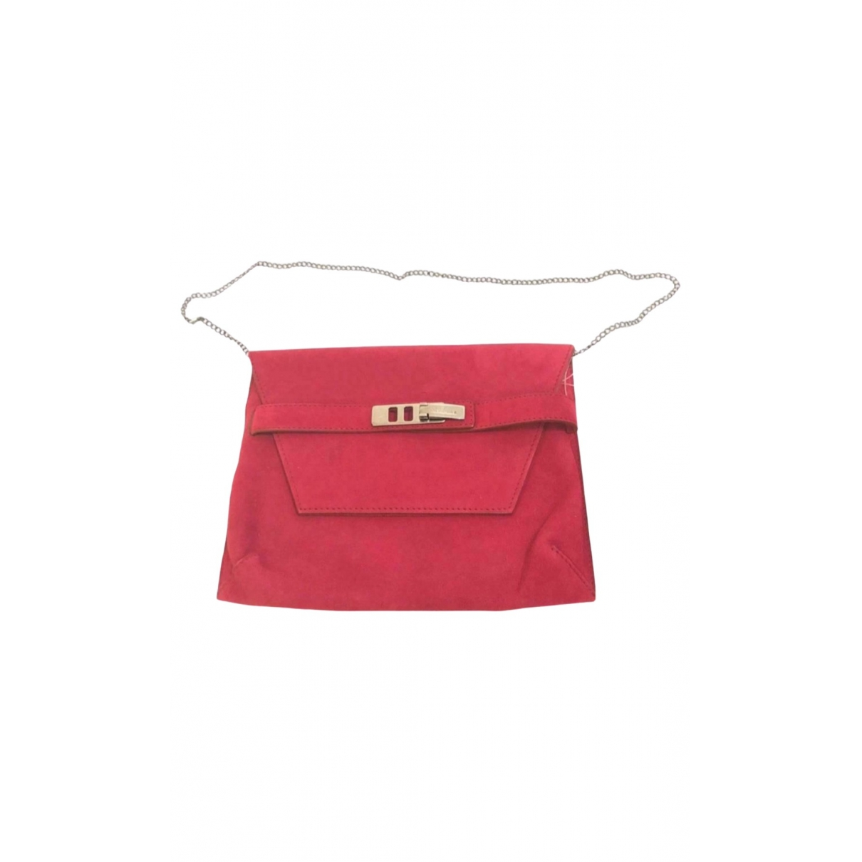 Max Mara \N Clutch in  Bordeauxrot Leder