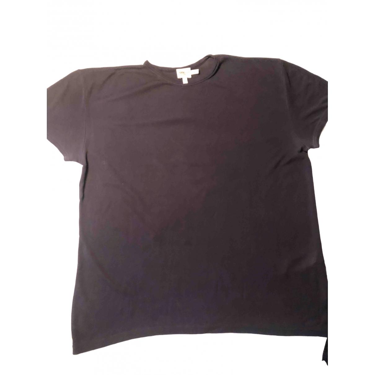 Armani Collezioni - Tee shirts   pour homme en soie - bleu